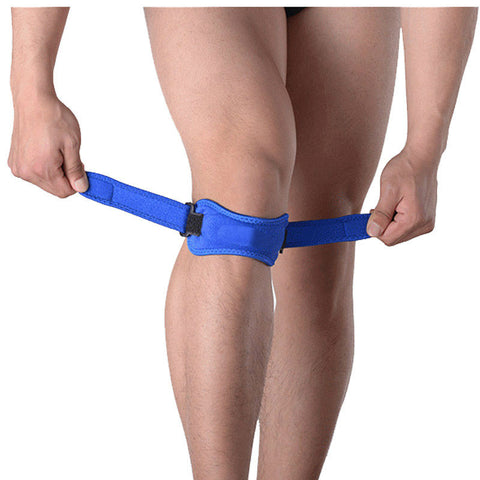 Adjustable knee support band