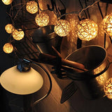 Rattan ball string fairy lights