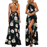 Chic summer floral maxi dress