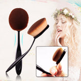 10 piece oval toothbrush makeup brush set