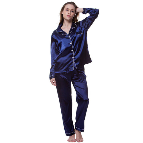 Long satin feel pyjama