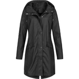 Waterproof hooded raincoat for women