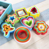 Cookie tin & moulds set