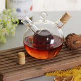 Oil & vinegar glass barrel bottle
