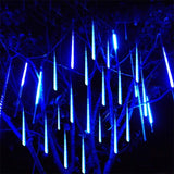 Meteor shower hanging LED lights