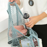 Retro reusable mesh grocery bag