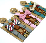 Suspenders & bow tie set for boys