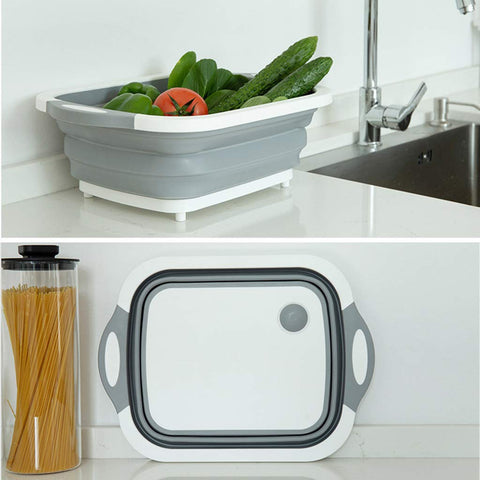 Folding 2 in 1 chopping board & washing basket