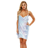 Printed towel dress