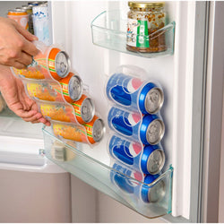 Re-usable refrigerator can organizer