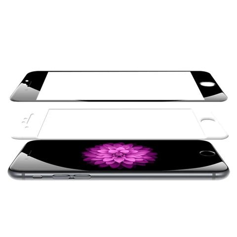Apple iPhone skin protector with 4D tempered glass