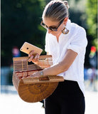 Hollow out bamboo summer handbag