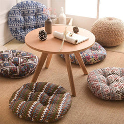 Moroccan style round patio cushions