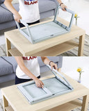 Folding laptop bed table tray