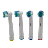 Electric toothbrush replacement heads set of 4
