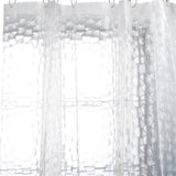 3D transparent shower curtain