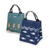Fishbone thermal insulated lunch bag