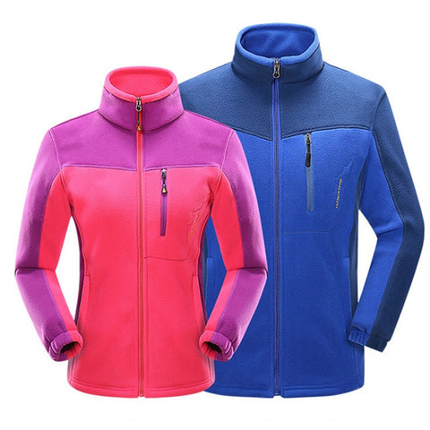 Sporty fleece jacket