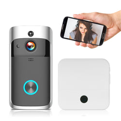 Wireless security video doorbell