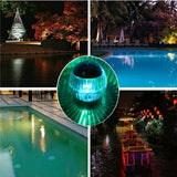 LED solar powered water floating lamp