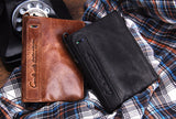 Cowhide leather wallet for men