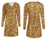 Light & long leopard blouse
