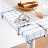 Stainless steel tablecloth clips