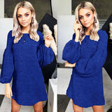 Loose sleeve sweater dress