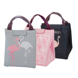 Flamingo thermal insulated lunch bag