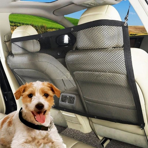 Pet isolation net for car