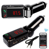 Bluetooth hands-free FM transmitter car kit
