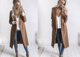 Warm trench coat for women
