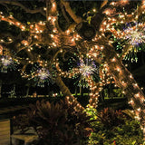 LED fireworks string lights