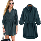 Bat sleeve shirt dress