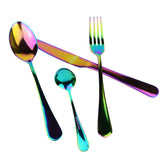 4 piece stainless steel rainbow cutlery set