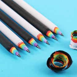 5 pack rainbow pencils