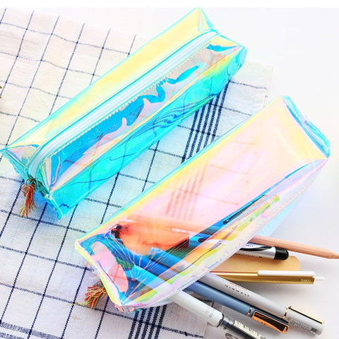 Laser shine make up pouch