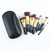 9 piece makeup brushes & carry bag set