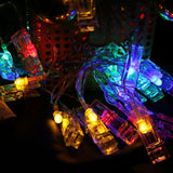Christmas fairy LED wall lights string