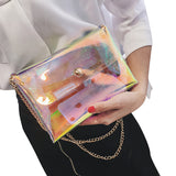 Hologram clutch with chain