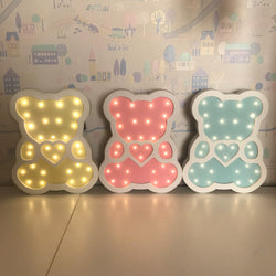 Various shapes wooden LED night light