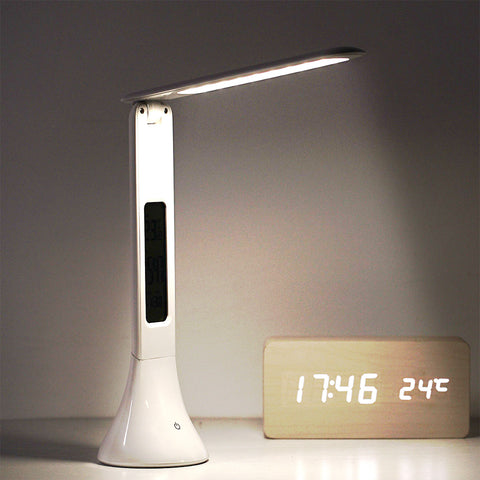 Folding dimmable LED touch lamp