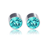 Crystal rhinestone magnetic clip-on earrings 4 pairs