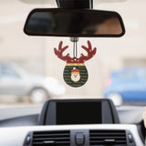 Deer Christmas car refreshener set of 4