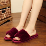 Furry home slippers