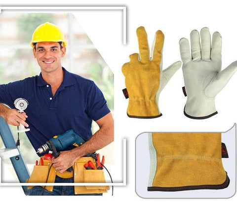 Heavy duty construction work gloves