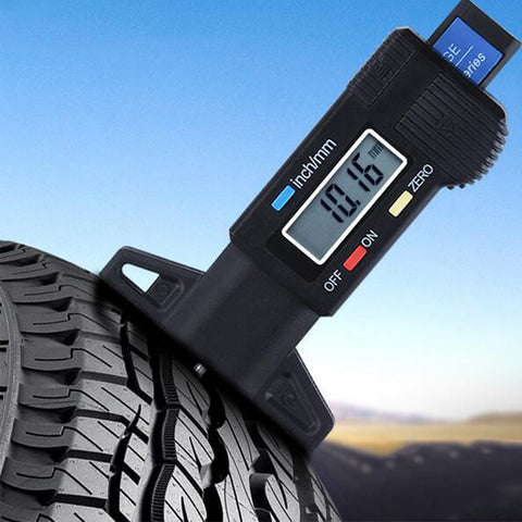 Digital car tire tread depth measuring tool