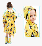 Animal print raincoat for children