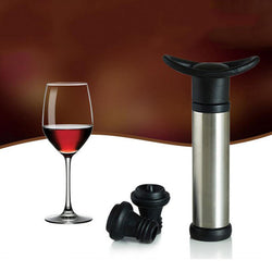 Vacuum pump with wine stoppers