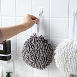 Hanging chenille hand towel set of 2